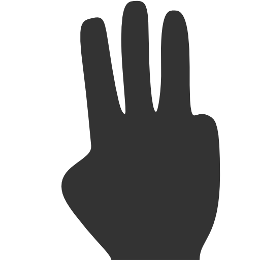 three fingers - Fingers PNG