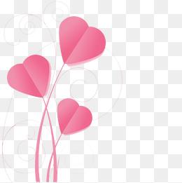 Pink heart buckle creative HD