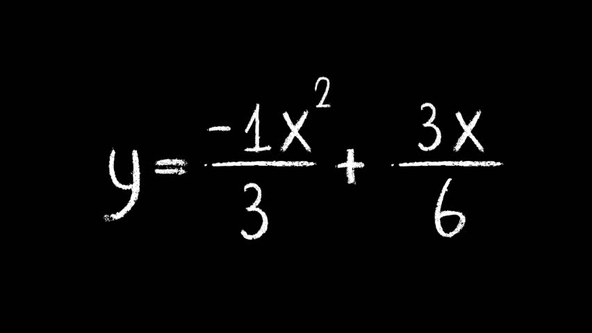 Three mathematical equations written with chalk, against black - HD stock  video clip - Three HD PNG