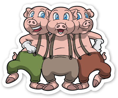 Three Little Pigs PNG HD-PlusPNG.com-399 - Three Little Pigs PNG HD