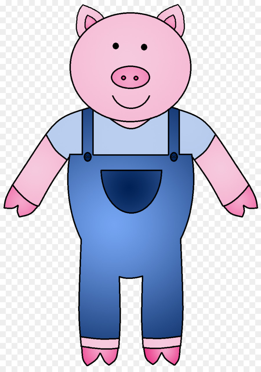 The Three Little Pigs Domestic pig Clip art - pig - Three Little Pigs PNG HD
