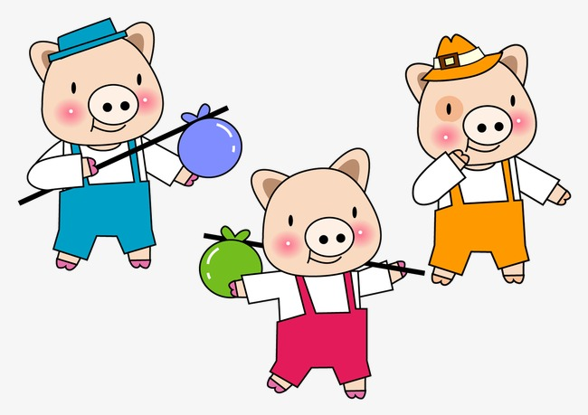 three little pigs, Cartoon Pig, Sixty One PNG and PSD - Three Little Pigs PNG HD