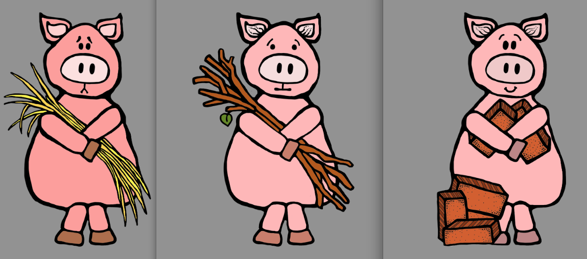 three little pigs clipart 2 - Three Little Pigs PNG HD