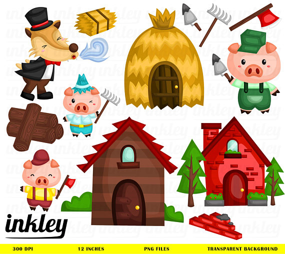 Three Little Pigs PNG HD - 146215