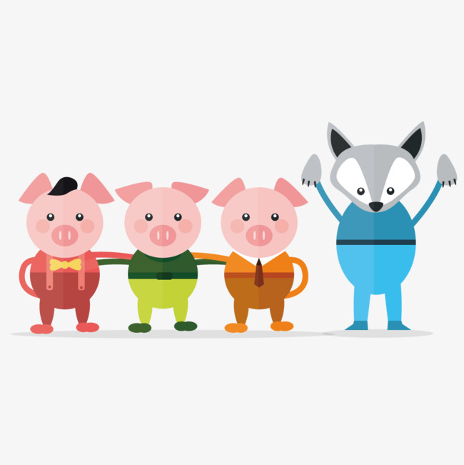 Three Little Pigs PNG HD - 146213