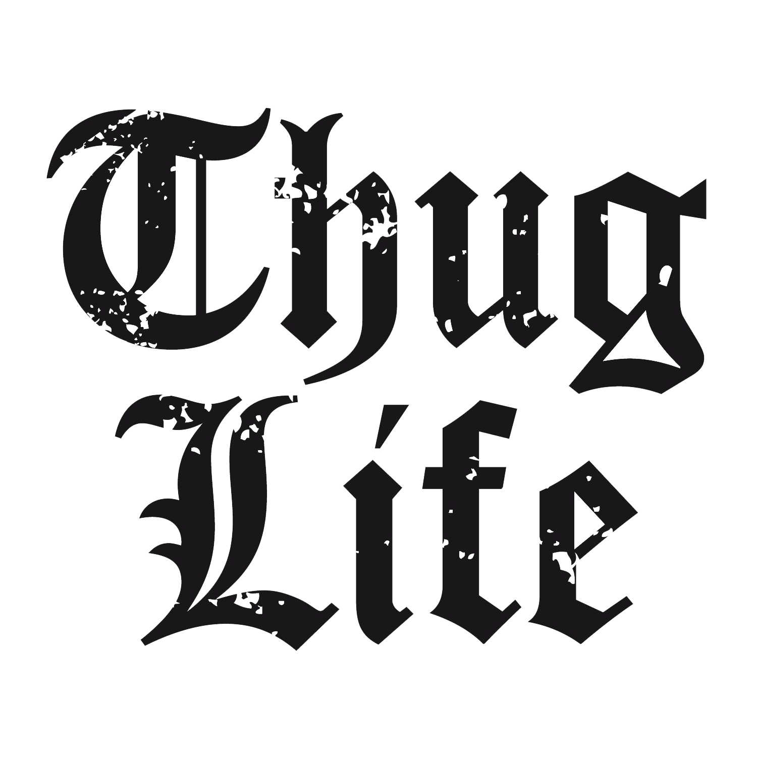Thug Life Text Logo Big - Thuglife HD PNG