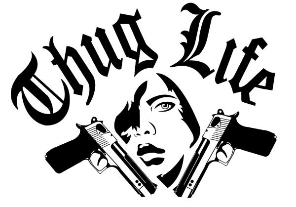 Thug Life Text PNG Image - Thuglife HD PNG