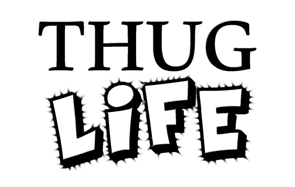Thug, Life, Thug Life, Young, Suburbs, Text - Thuglife HD PNG