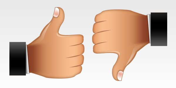 Thumbs Up And Thumbs Down PNG HD - 131481