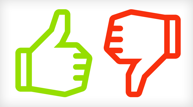 Thumbs Up And Thumbs Down PNG HD - 131483