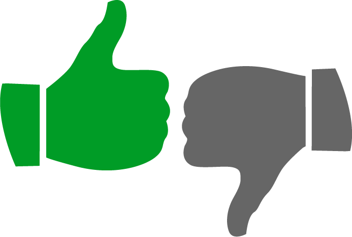 Thumbs Up And Thumbs Down PNG HD - 131472