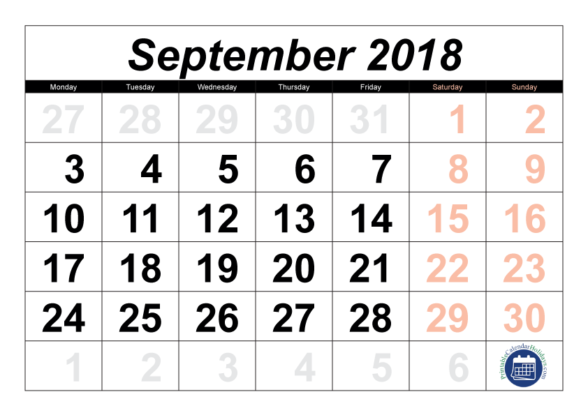 printable september 2018 calendar thursday september 19 calendar png