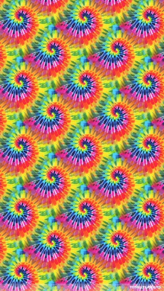 Bright Tie Dye Android Wallpaper