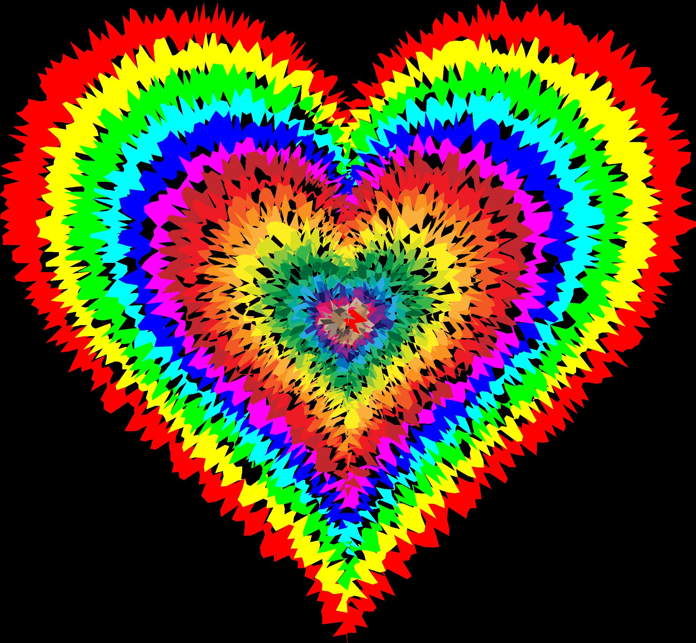 Clipart - Tie Dye Heart - Tie Dye PNG HD