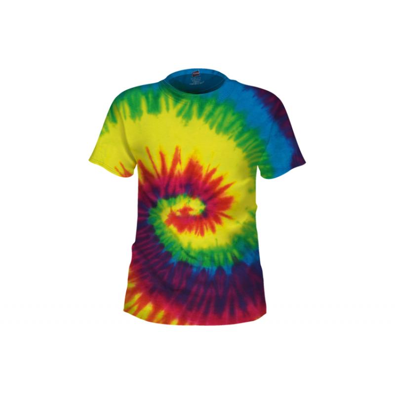 Rainbow Tie-Dye T-Shirt - Tie Dye PNG