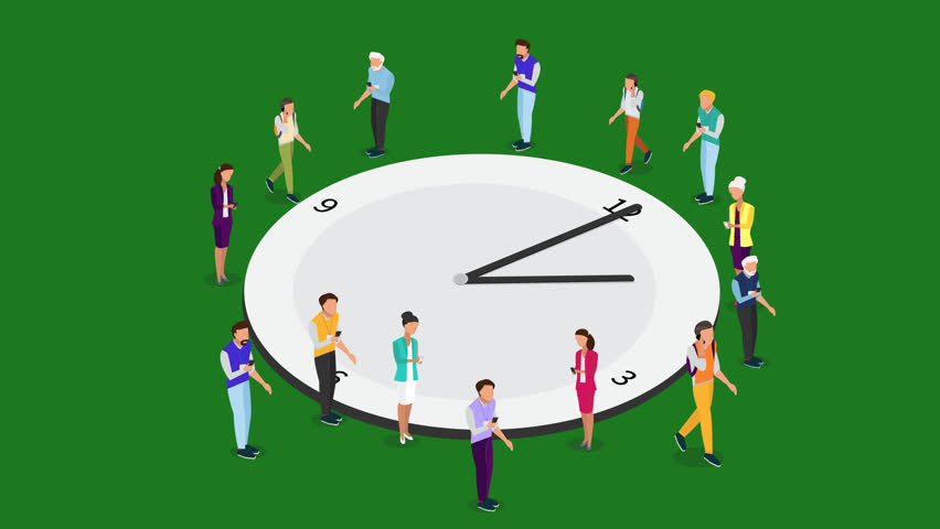 Time management vector animation. Alpha channel. PNG Alpha. Isometric watch  for time - Time Management PNG HD