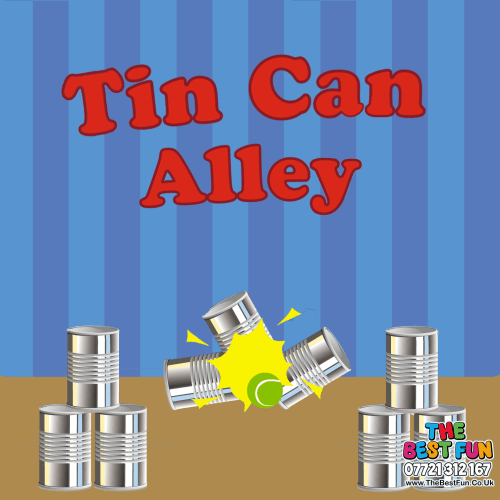 Inflatable Tin-Can Alley - Bouncy Castle u0026 Entertainments Hire in Stafford,  Cannock, , Burntwood, Walsall, Tamworth u0026 West Midllands - Tin Can Alley PNG