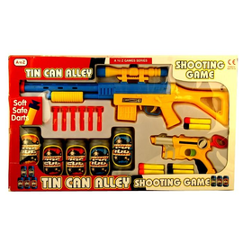 Rifle And Gun Tin Can Alley Shooting Game Kids Toys Soft Safe Darts - Tin Can Alley PNG