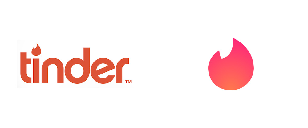 New Logo for Tinder by DesignStudio in Collaboration with In-house - Tinder Logo PNG