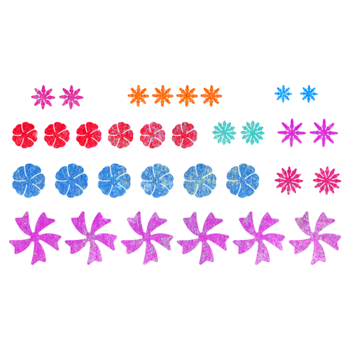 B376 - Cheery Lynn Designs Tiny Flower Kit 32 Piece Die Set Cut Out - Tiny Flowers PNG