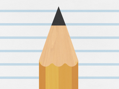 Pencil on Ruled Paper - Tip Of Pencil PNG