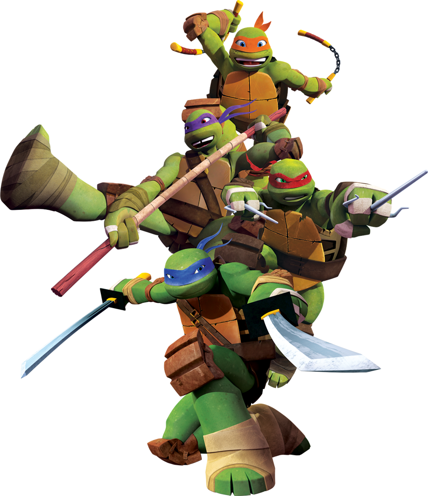 TMNT 2012 The Turtles.png - Tmnt HD PNG