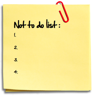 not-to-do-list - To Do List PNG