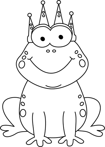clip art black and white | Black and White Frog Prince Clip Art Image -  black - Toad PNG Black And White