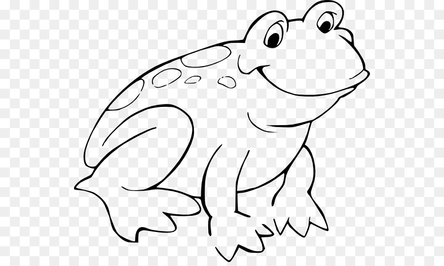 Frog Black and white Cartoon Clip art - Frog Line Cliparts - Toad PNG Black And White