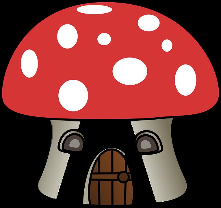 Mushroom, House, Cartoon, Toadstool, Home, Forest - Toadstool PNG HD