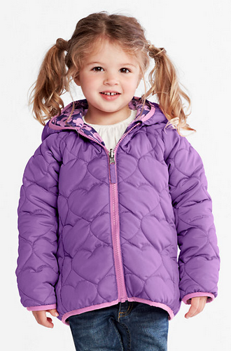 Landsu0027 End Toddler Girlsu0027 Reversible Puff Jacket - Toddler Girl PNG