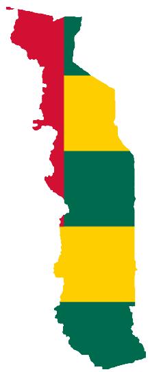 File:Flag-map of Togo.png - Togo PNG