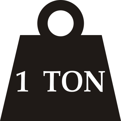 File:One-ton weight.svg - Ton Weight PNG