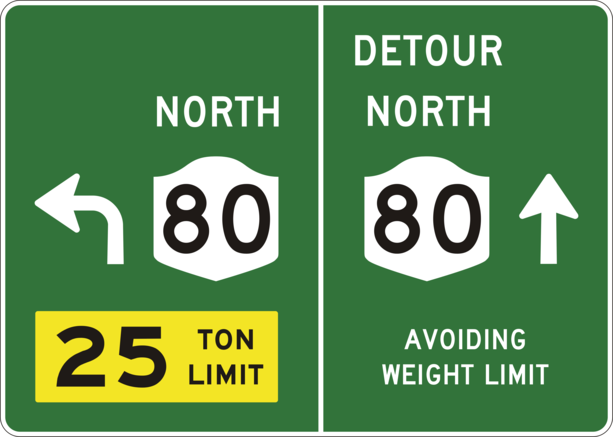 Fixed-ny-80-25-ton-weight-limit-detour-sign-refined.png PlusPng.com  - Ton Weight PNG