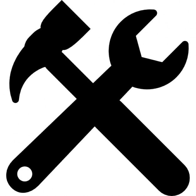 Tools cross settings symbol for interface - Tool PNG