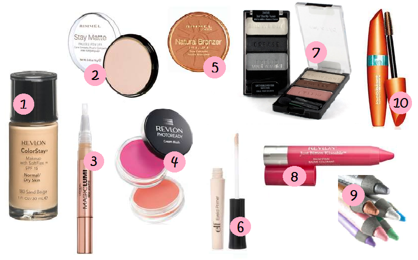 TOP 10 DRUGSTORE MAKEUP PRODUCTS - Makeup Kit Products PNG