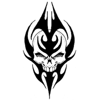 Top Tribal Skull Tattoos PNG Images - Tribal Skull Tattoos PNG