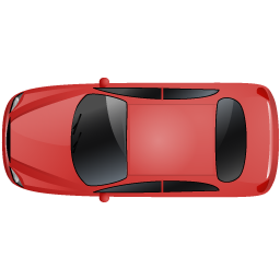 Car Top Red Icon - Top View Of A Car PNG