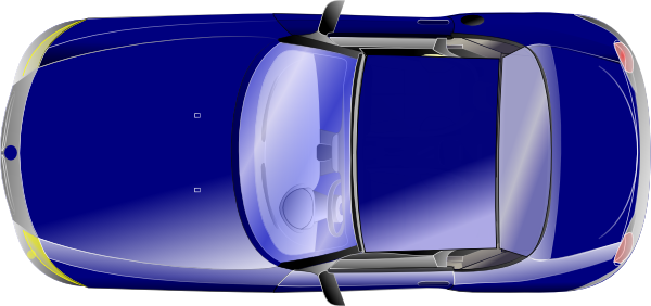 Download this image as: - Top View Of A Car PNG