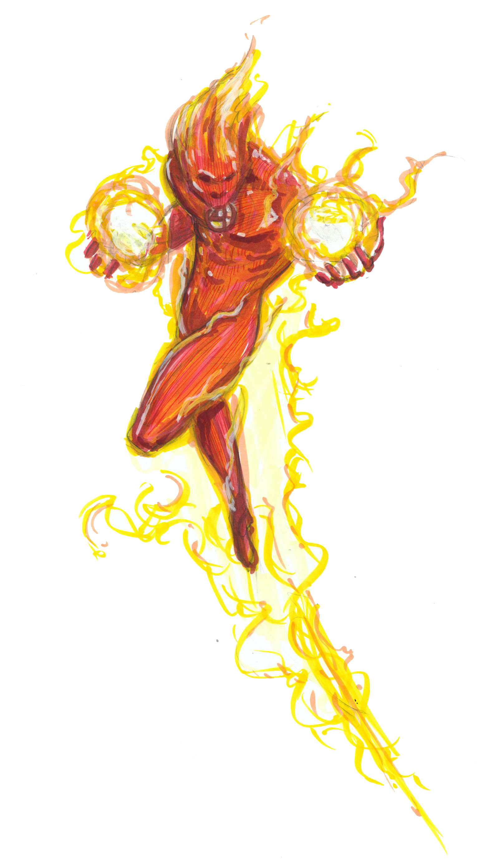Human Torch PNG HD