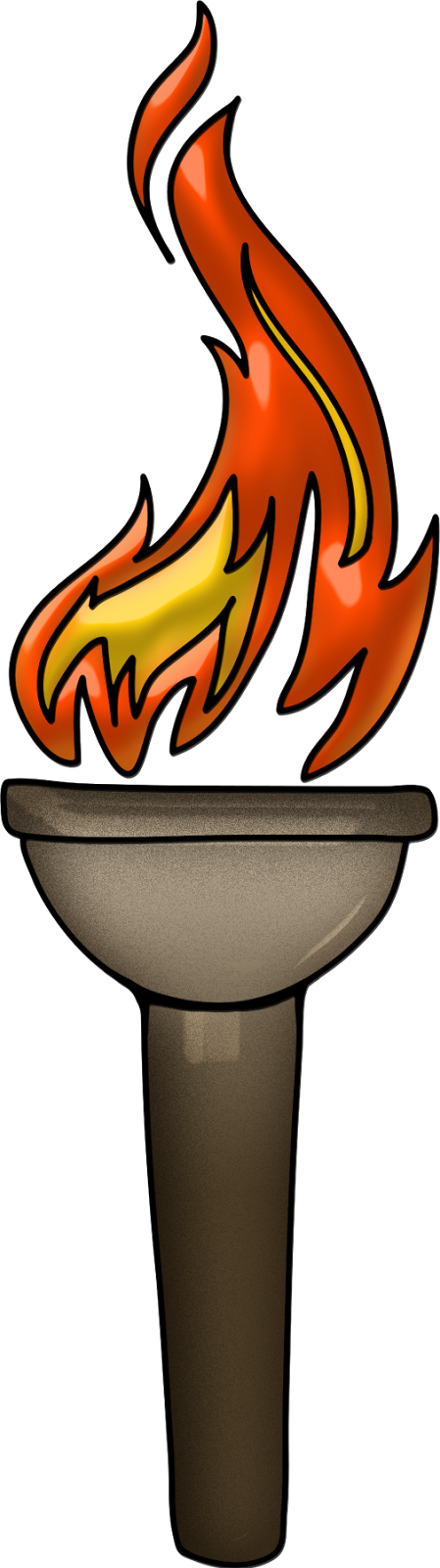 Pass the Torch Linky ~ Using -er Suffix - Torch HD PNG