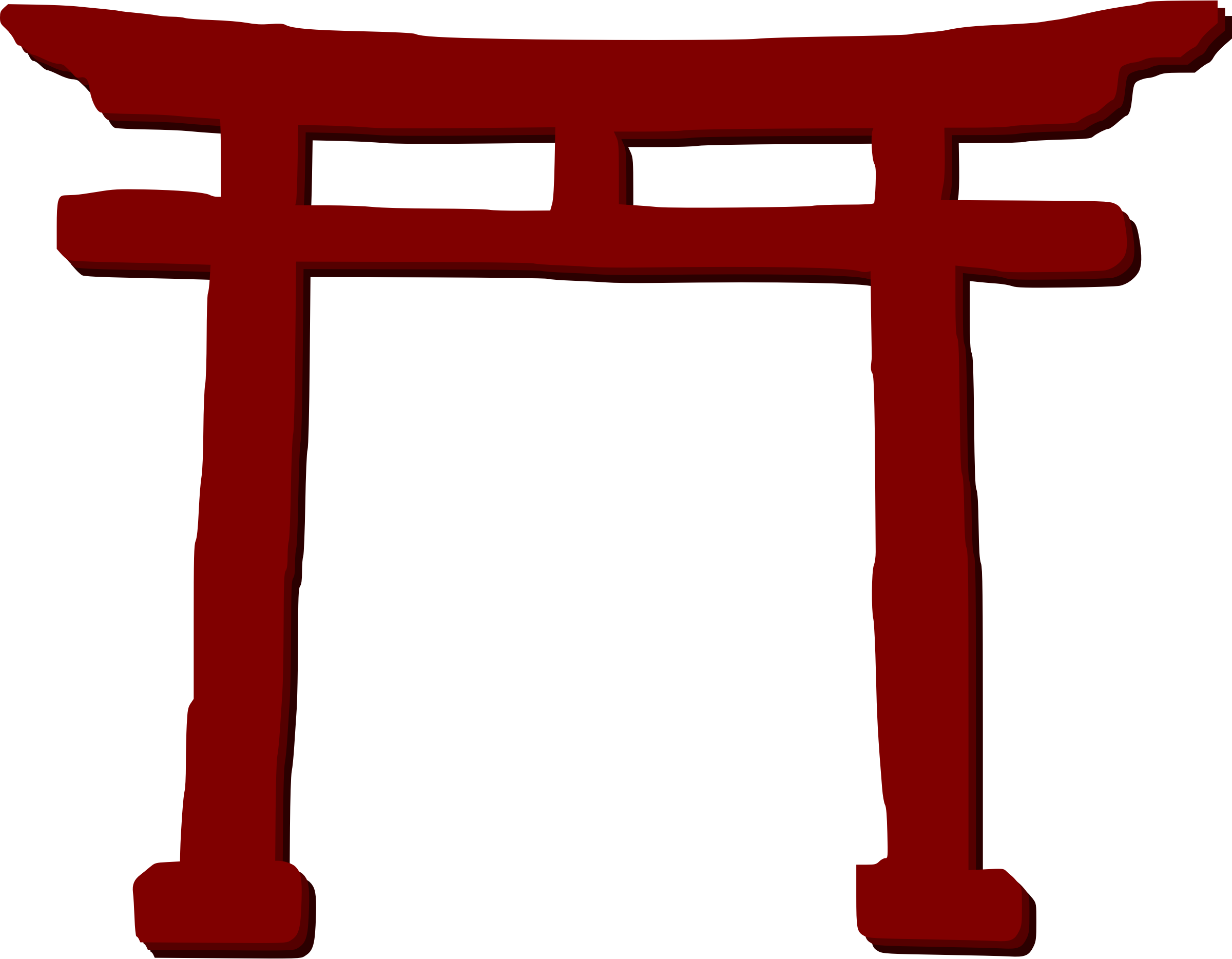 japanese torii gate 3d model