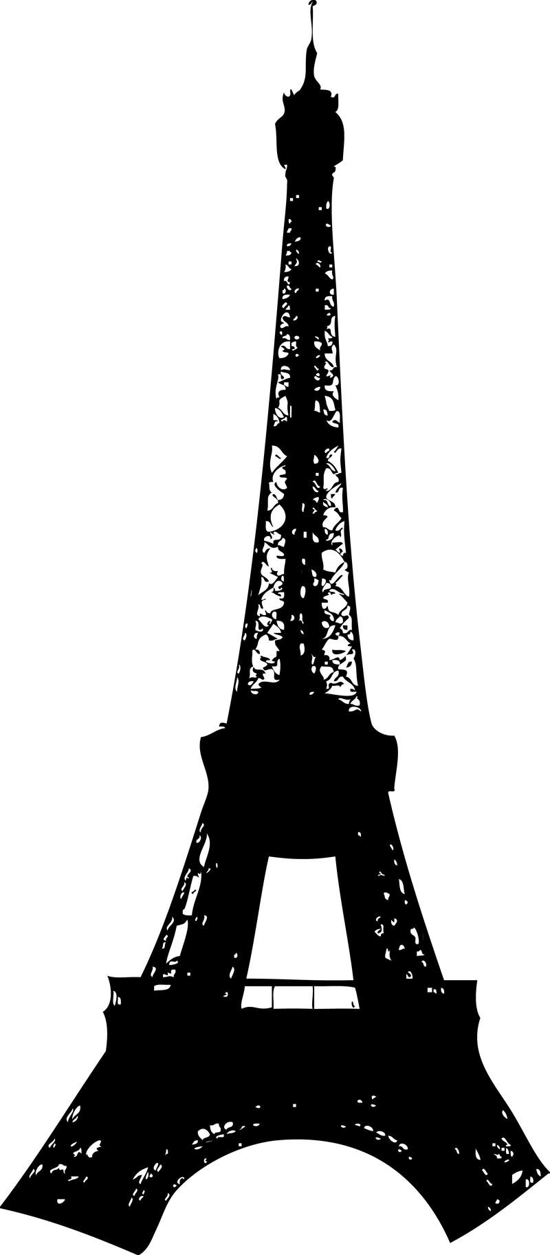Silueta de la torre Eiffel. Descargar imagen grande 800x1826px - Torre Eiffel PNG
