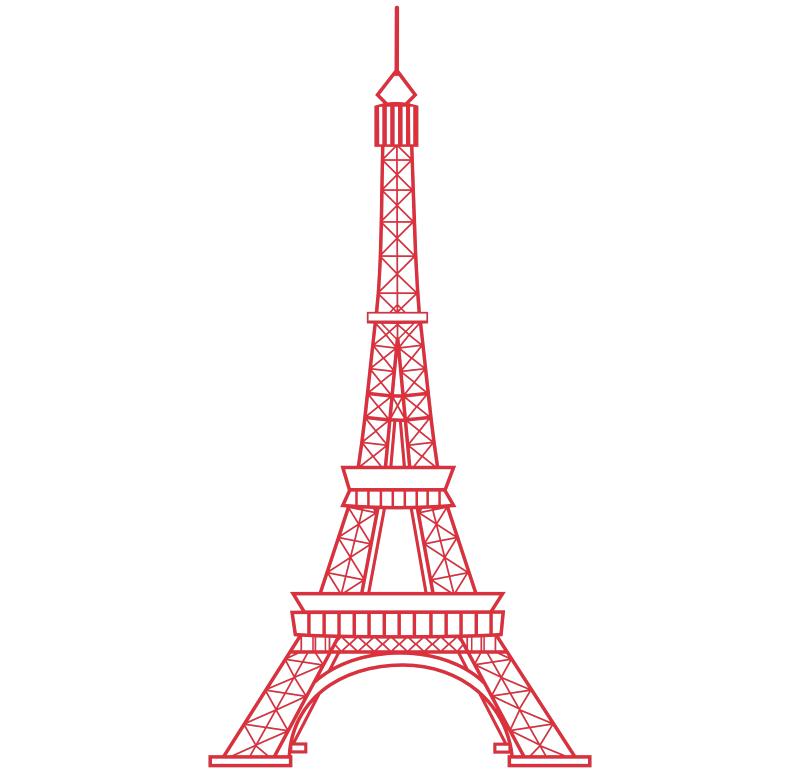 Torre Eiffel 2, vinilos decorativos - Torre Eiffel PNG