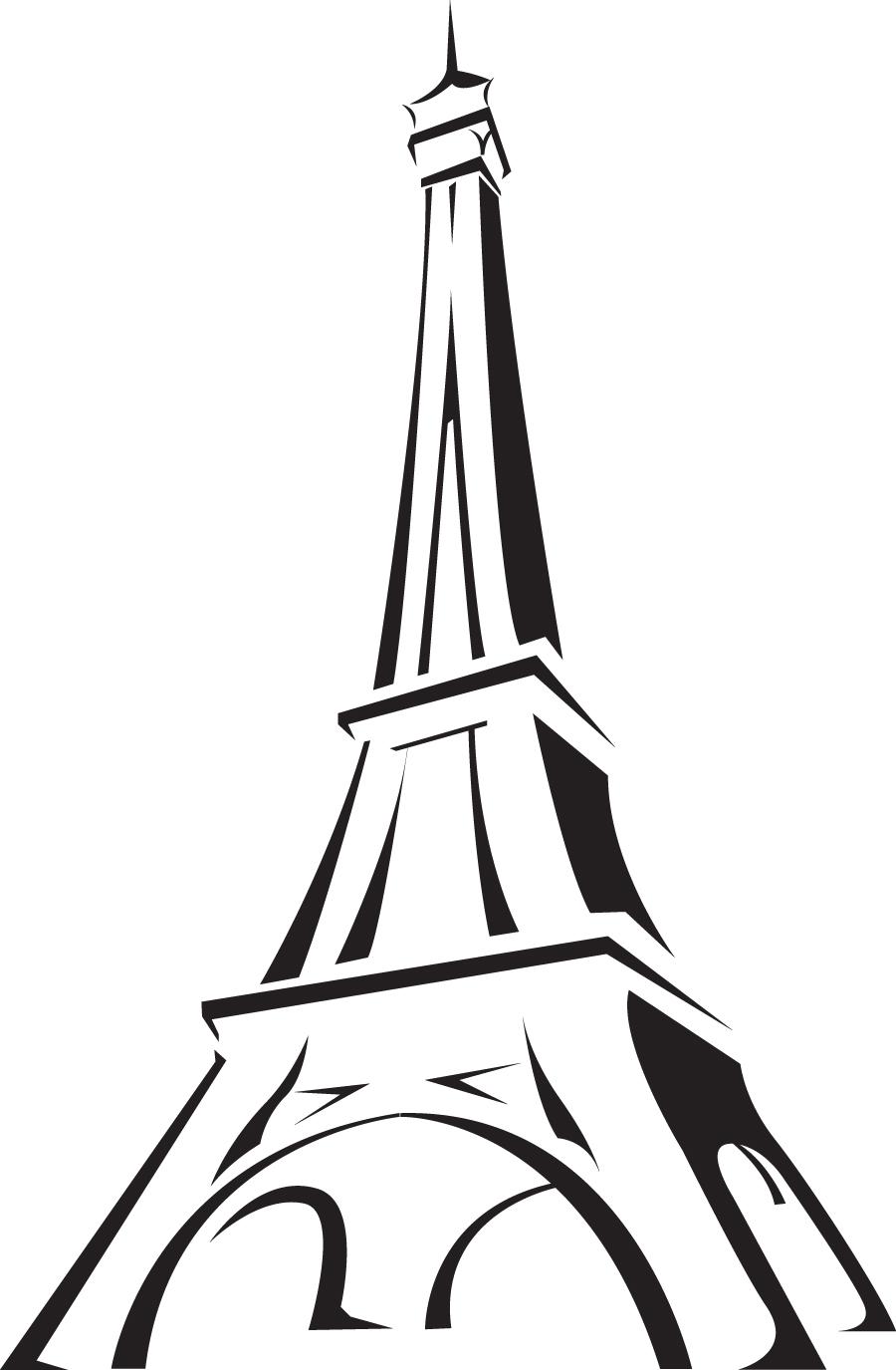 117 BKB1358 VINIL HOGAR TORRE EIFFEL - Tour Eiffel PNG