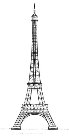 Eiffel Tower - La tour Eiffel coloring page - Tour Eiffel PNG
