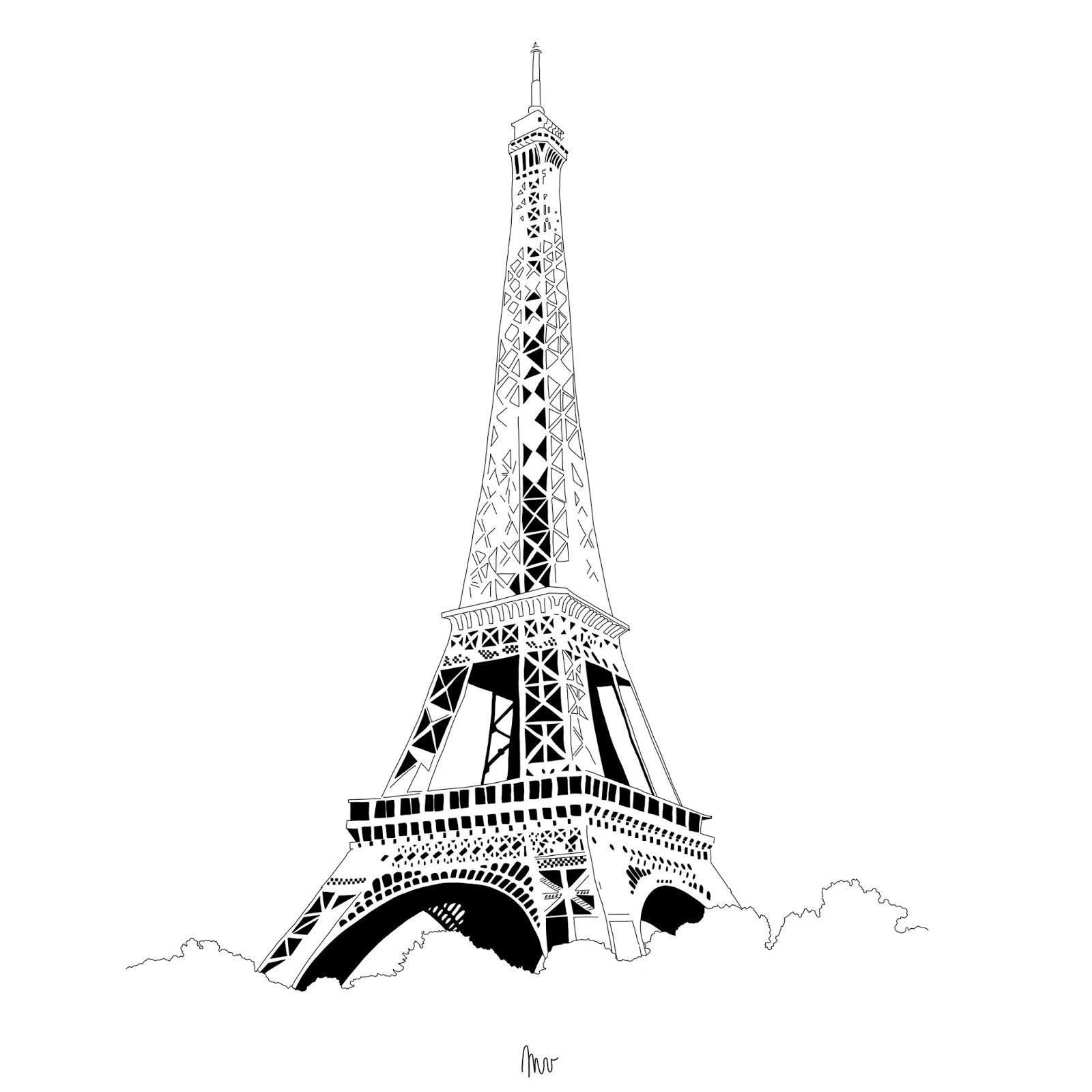 Luxe image colorier de la tour eiffel - Dessin tour eiffel a imprimer ...
