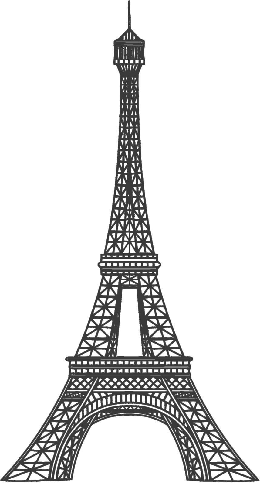 . PlusPng.com Tour Eiffel Dessin Png Avec Tour Eiffel Idees Et Eiffel2 Avec 857x1590px - Tour Eiffel PNG