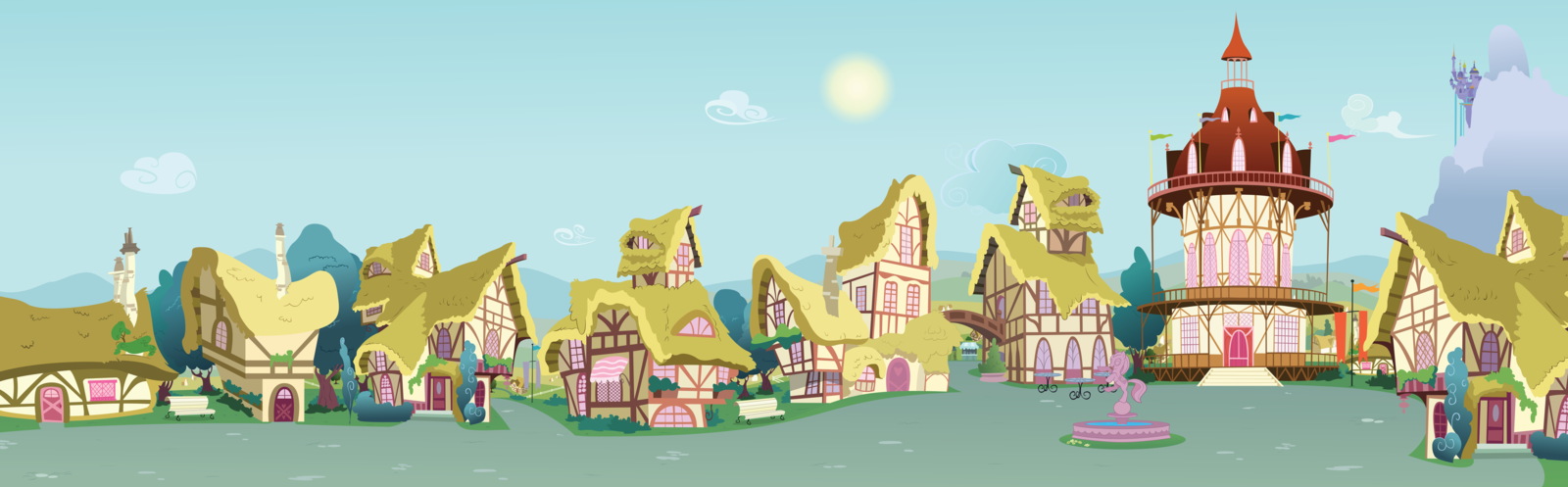 Town Background PNG - 162757