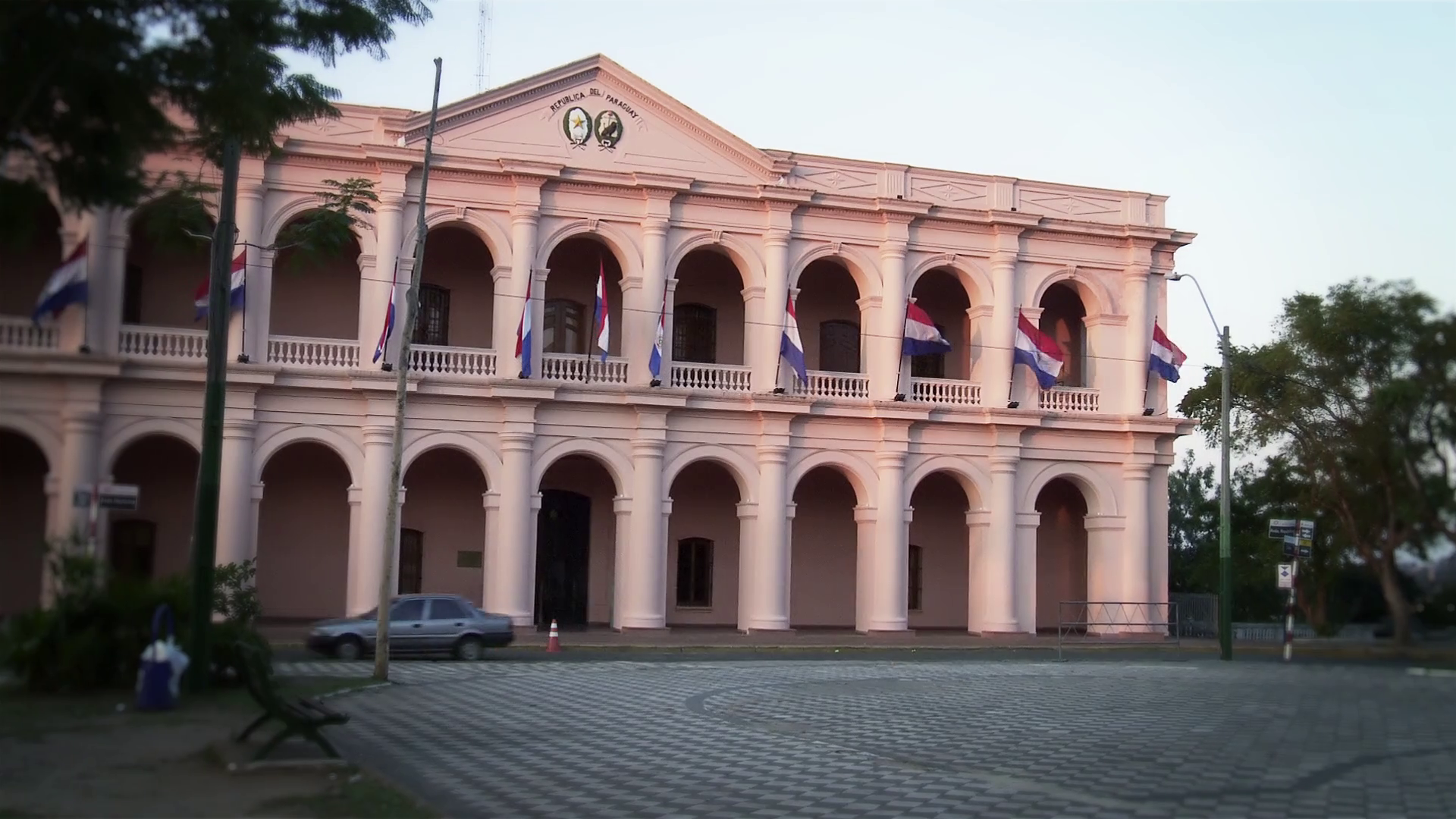 The Legislative Palace (Town Council Building, El Cabildo) in Asuncion,  Paraguay. Stock Video Footage - VideoBlocks - Town Council Building PNG
